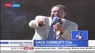 ANC Leader Musalia Mudavadi calling on Uhuru to fire corrupt leaders