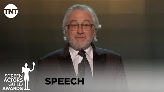 Robert De Niro: Award Acceptance Speech   26th Annual SAG Awards   TNT