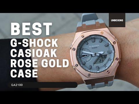 CasiOak GA2100 Metal Bezel Fluorine Rubber Watch Strap Length for Casio G-Shock GA-2100/2110