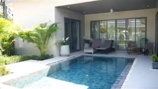 New Contemporary Three Bedroom Pool Villa with Modern Furniture for Sale in Cherng Talay