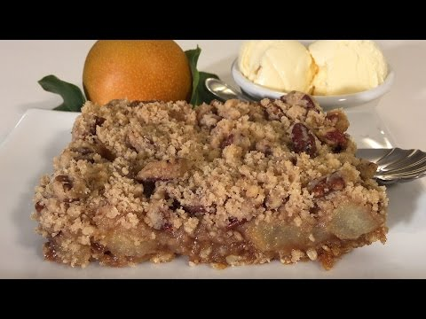 Video How To Make Asian Pear Crumble Dessert-Asian Food Recipes