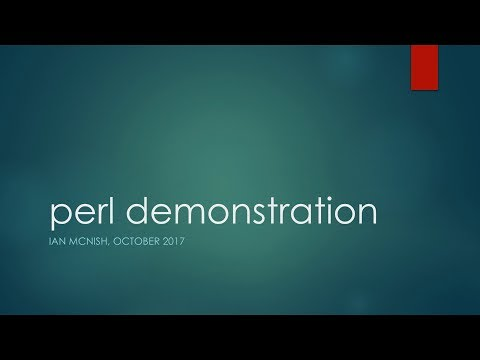 perl demonstration