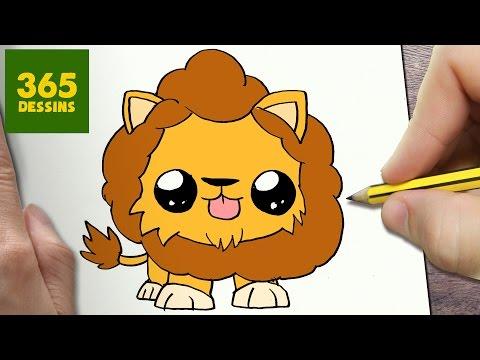Comment dessiner un lion kawaii comment dessiner - Dessiner un animal facile ...