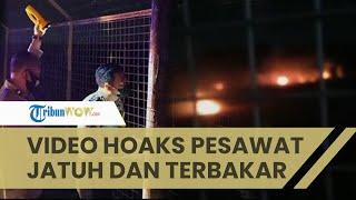 Viral Video Pesawat Jatuh hingga Terbakar di Bandara Adi Soemarmo Solo, Terungkap Ternyata Hoaks