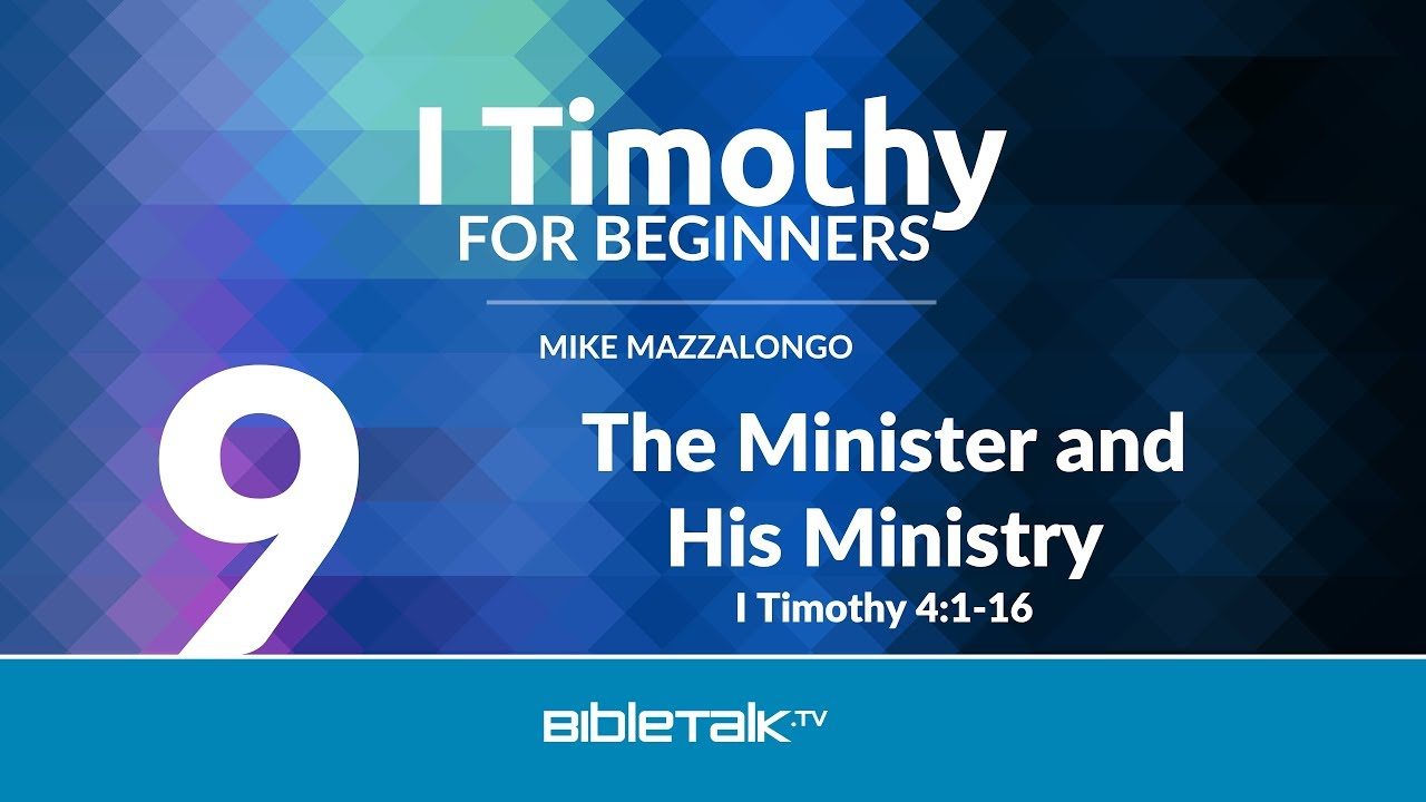 9. The Minister and His Ministry