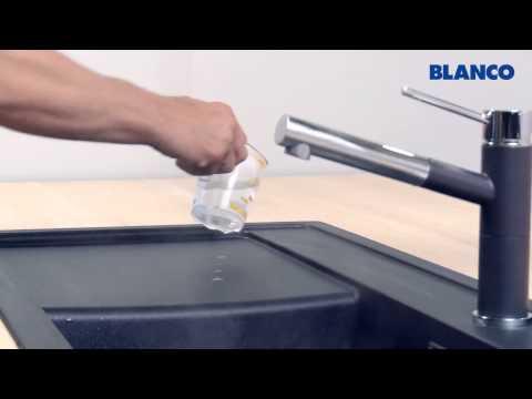 Reinigung und Pflege einer BLANCO Spüle aus SILGRANIT PuraDur