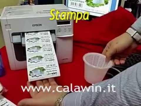 Calawin Stampante di Etichette a Colori TM C3500