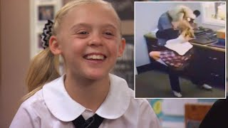 11-Year-Old Leaps Into School Employee