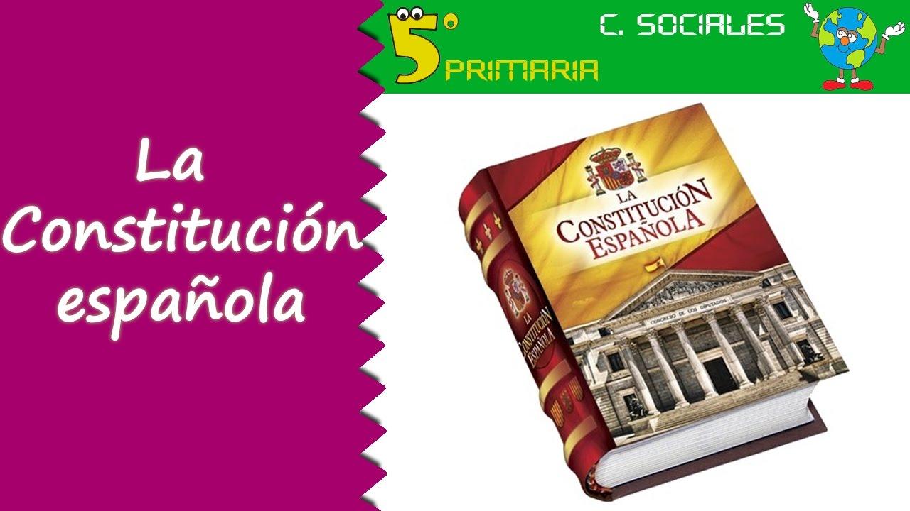 Constitución Española. Sociales, 5º Primaria. Tema 4