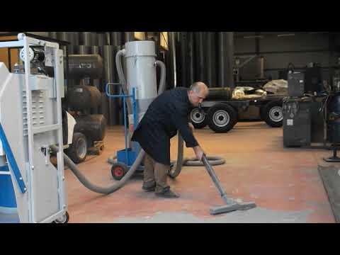 Sanayi Tipi Elektrik Süpürgesi Separatör Sistemli