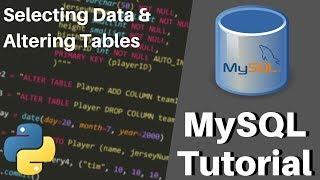 Python MySQL Tutorial - Selecting Data & Altering Tables