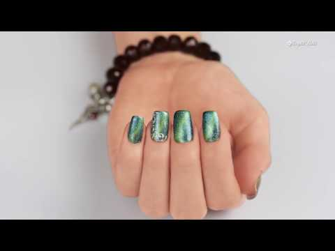 How To Apply Tiger Eye CrystaLac Gel Polish - Official Step-By-Step Crystal Nails Technique