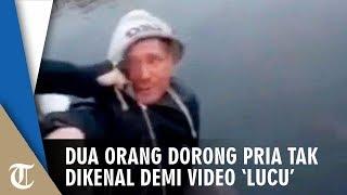 Demi Buat Video 'Lucu' Viral, Dua Lelaki Dorong Pria Tak Dikenal hingga Tewas Jatuh dari Jembatan