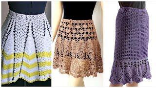 Latest Fashion Crochet Skirts/Summer Fashion Dress Ideas For Ladies