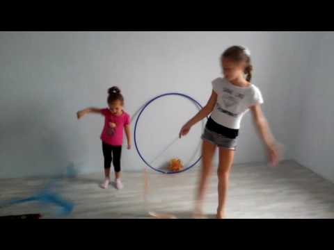 Гимнастика челендж с лентой