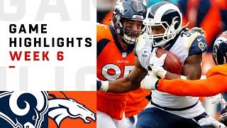 Rams vs. Broncos Week 6 Highlights | NFL 2018