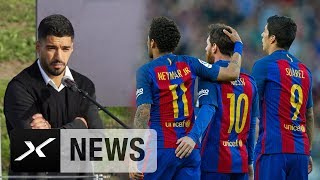 Luis Suarez weint bei Fußballschulen-Eröffnung | FC Barcelona | Uruguay