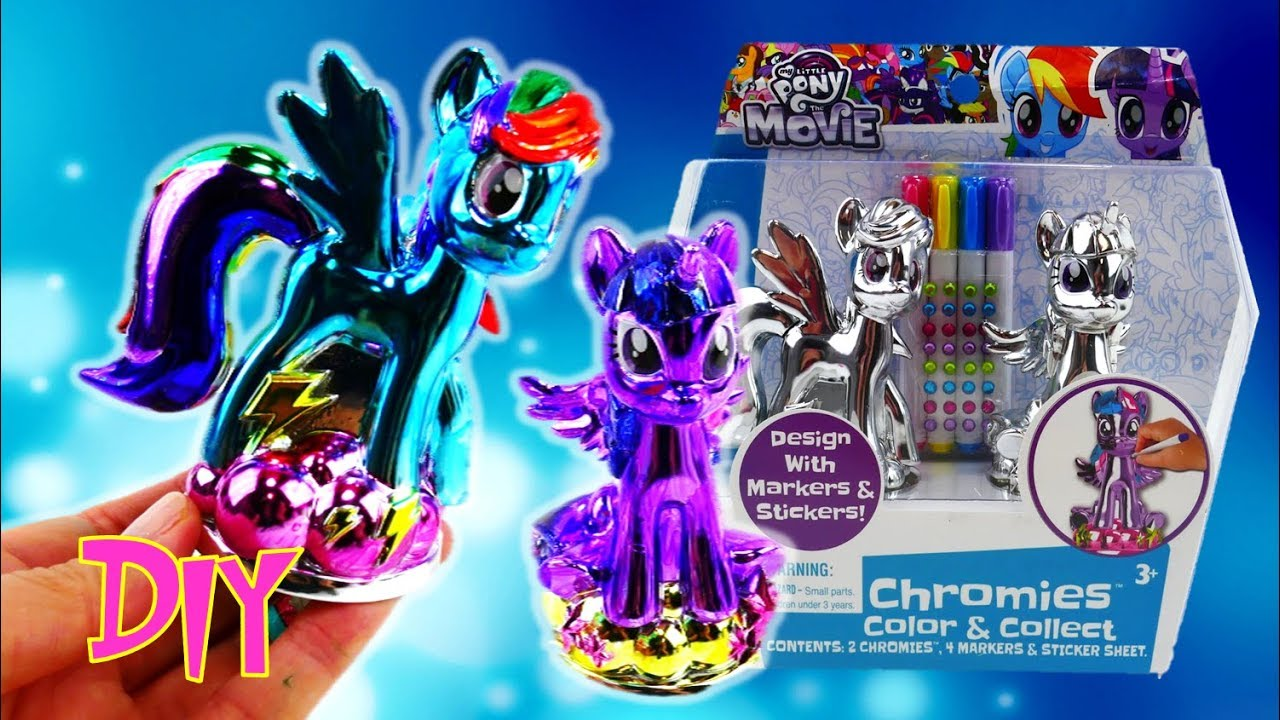 My Little Pony Movie 2017 Chromies Twilight Sparkle and Rainbow Dash Design a Vinyl