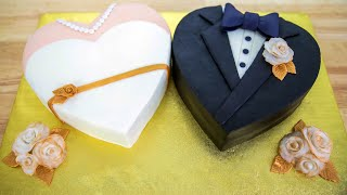 Double Heart Cake Decorating