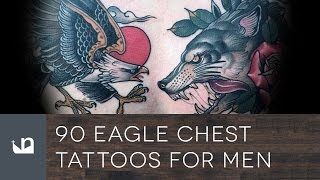 90 Eagle Chest Tattoos For Men