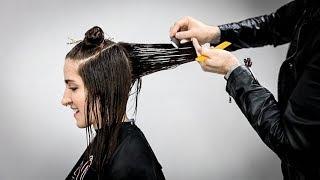 Layered Haircut Tutorial For REALLY THICK Hair   MATT BECK VLOG S2 016