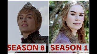 Season 1 vs Season 8 Character Comparison Game of Thrones