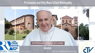 2017.03.01 Procession and Holy Mass on Ash Wednesday