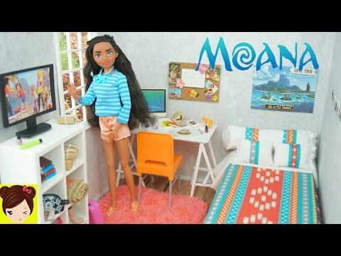 Nueva Habitacion para Disney Moana - Manualidades Para muñecas Tutoriales - Juguetes de Titi
