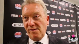 "FRANK WARREN ON ""VERY FRUSTRATING"" JAMES DEGALE LOSS TO TRUAX/YARDE, DUBOIS & SELBY VS WARRINGTON"