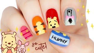 Winnie The Pooh & Friends Nail Art Design!