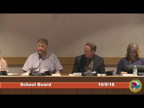 School Board 10.8.18