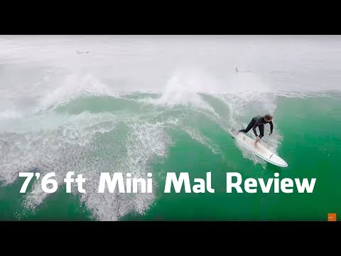 Phil reviews our 7'6ft Mini Mal Surfboard!