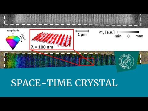 Primera filmación en vídeo de un cristal de espacio-tiempo