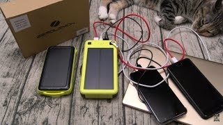 ZeroLemon SolarJuice 26800mAh USB-C/QC 3.0 Portable Solar Battery Charger