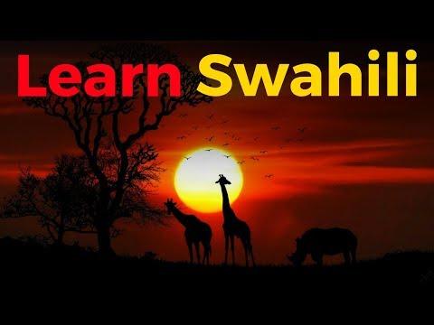 Learn Swahili While You Sleep 😀  Most Important Swahili Phrases and Words 😀 English/Swahili