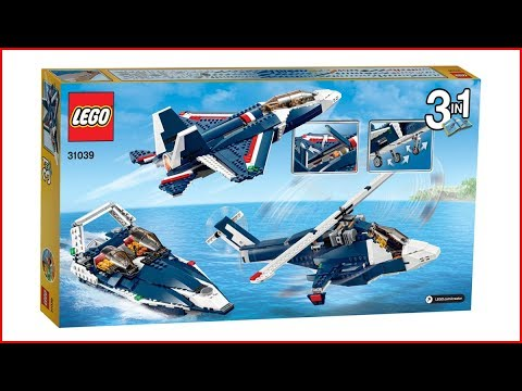 LEGO CREATOR 31039 Blue Power Jet Construction Toy   UNBOXING