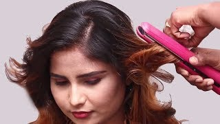 Beautiful Open Hairstyle For Party    Quick Hairstyle For Medium Long Hair    Loose Party Hairstyle