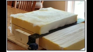 How To Evenly Remove Thickness From A Large Piece Of Cushion Foam