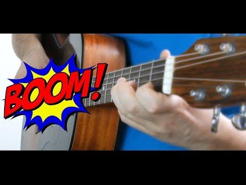 Хотел сыграть обычную БАТАРЕЙКУ на гитаре, а вышло ЭТО! 👍🔥 Ударный фингерстайл! 🔨