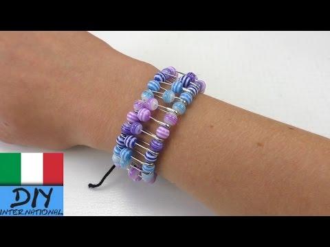 DIY Braccialetto di Perle | Braccialetto colorato con spille da balia fai da te