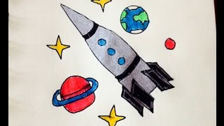 Как нарисовать ракету# Космос# День космонавтики