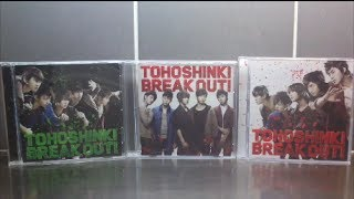 Unboxing TVXQ 東方神起 29th Japanese Single Break Out! [CD+DVD (A), CD (B) & Bigeast (C) Edition]