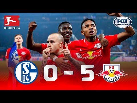 CAÇA AO LÍDER COM GOLEADA! Melhores momentos de Schalke 0 x 5 Leipzig pela Bundesliga