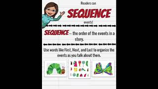 Anchor Charts With Ms. Arwood: Readers Can Sequence Events