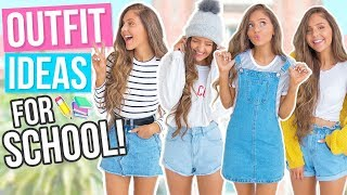 OUTFIT IDEAS FOR SCHOOL 2017! Comfy & Cute Back To School Outfits / Lookbook!