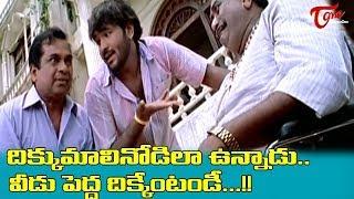 దిక్కుమాలినోడిలా ఉన్నాడు.. వీడు పెద్ద దిక్కేంటండి.. !!  Telugu Movie Comedy Scenes   NavvulaTV