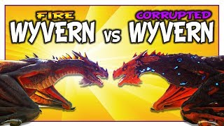 Corrupted Wyvern vs Fire Wyvern in Ark Dino Battles [Dino vs Dino] •••