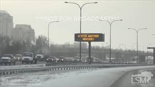 02/18/2019 Colorado Springs, Colorado Winter Storm Rush Hour Crashes