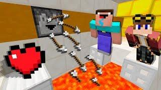 НУБ И ПРО ПРОТИВ ИСПЫТАНИЯ С 1 СЕРДЦЕ В МАЙНКРАФТ ! НУБ НЕ ПРОЙДЕТ СЕКРЕТНУЮ ЛОВУШКУ Minecraft