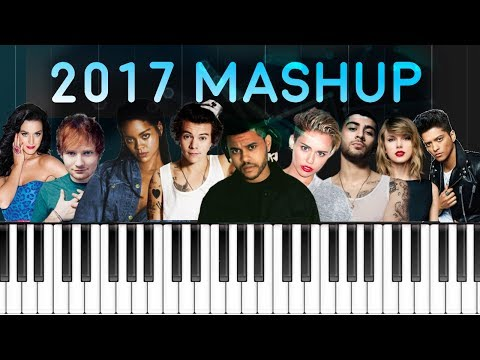2017 MASHUP :  Billboard Piano Hit Songs Megamix